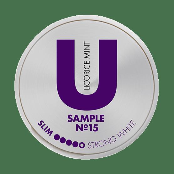U Sample Licorice Mint No.15 Portion Snus