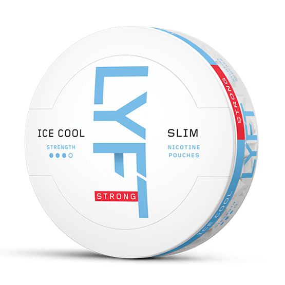 Lyft Strong Ice Cool Mint All White Portion Snus