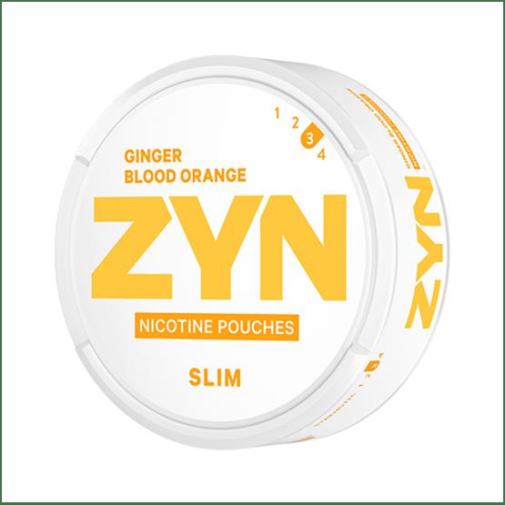 ZYN Slim Ginger Blood Orange Strong All White Portion