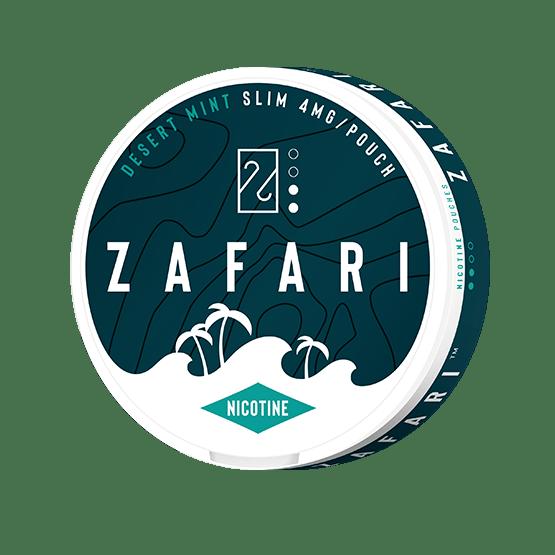 Zafari Desert Mint 4mg Slim All White Portion
