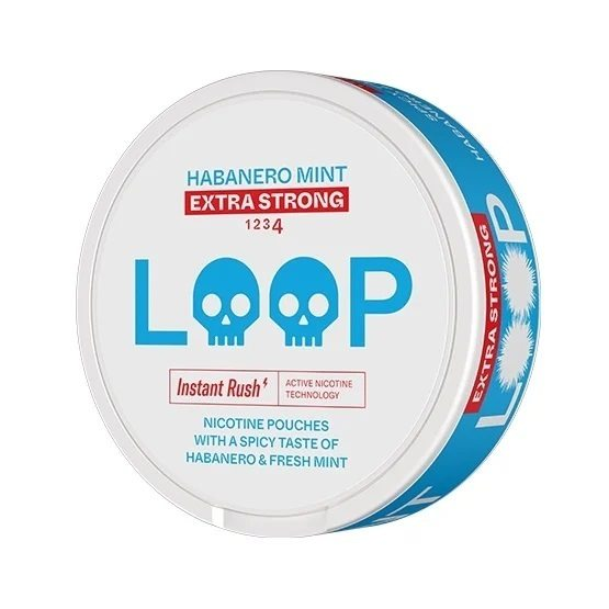 LOOP Habanero Mint Slim Extra Strong All White Portion
