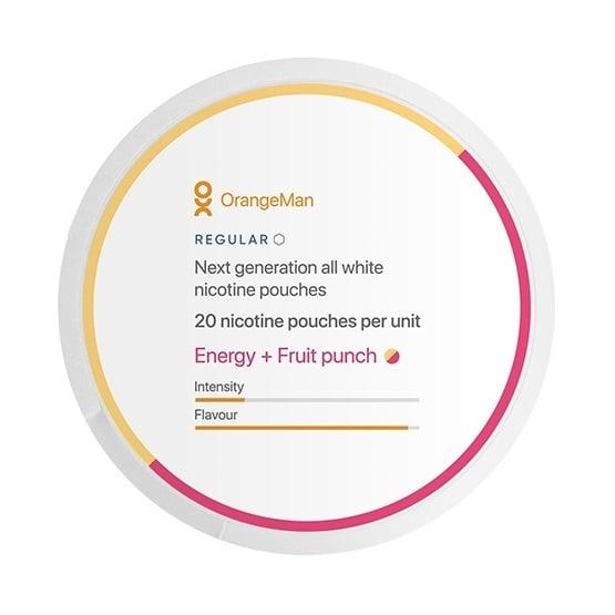 OrangeMan Energy + Fruit Punch Slim Normal All White Portion