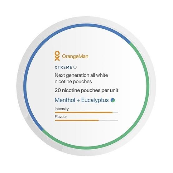 OrangeMan Menthol + Eucalyptus Slim Extra Strong All White Portion