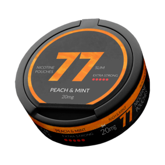 77 Peach & Mint Slim Extra Strong All White Portion