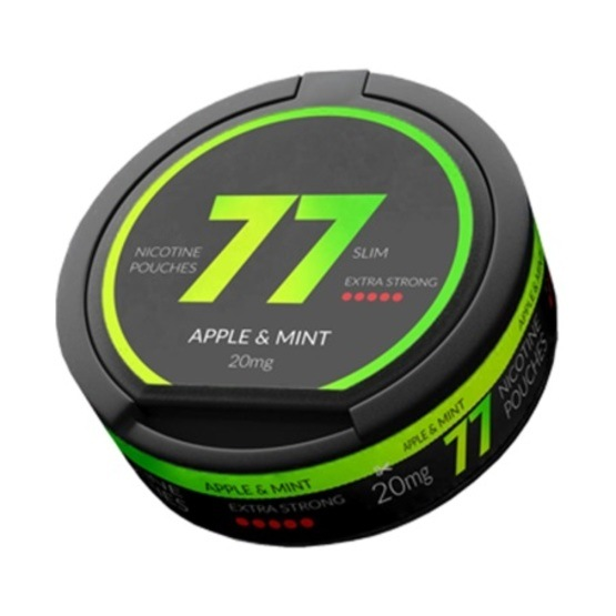 77 Apple Mint Slim Extra Strong All White Portion