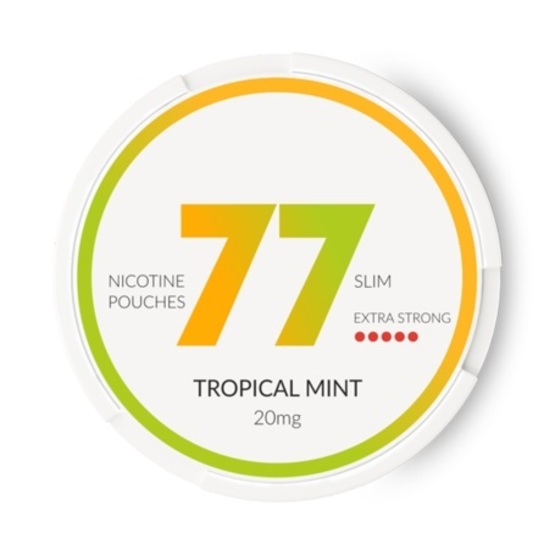77 Tropical Mint Slim Extra Strong All White Portion