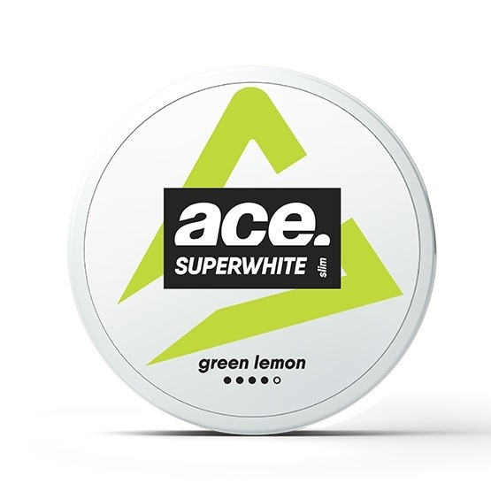 ACE Superwhite Green Lemon Slim Extra Strong All White Portion