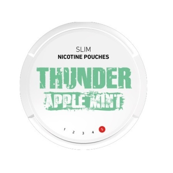 Thunder Apple Mint Slim Extra Strong All White Portion