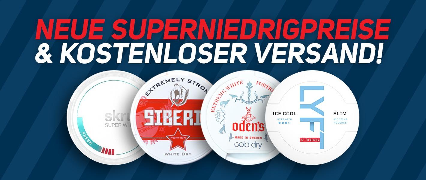 Neue Superpreise auf Top Produkte & immer gratis Versand